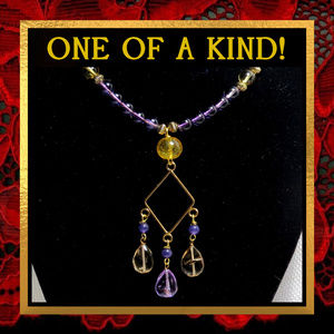 Ametrine & Amethyst Gemstone Necklace #569